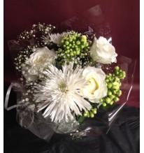 Bouquet blanc à déposer