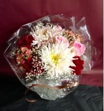 Bouquet rose à déposer