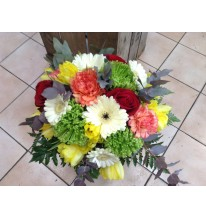 Bouquet rond multicolore