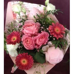 Bouquet caramel rose