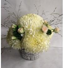 Composition fleurs de chrysanthème