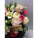 Composition de fleurs en tissus